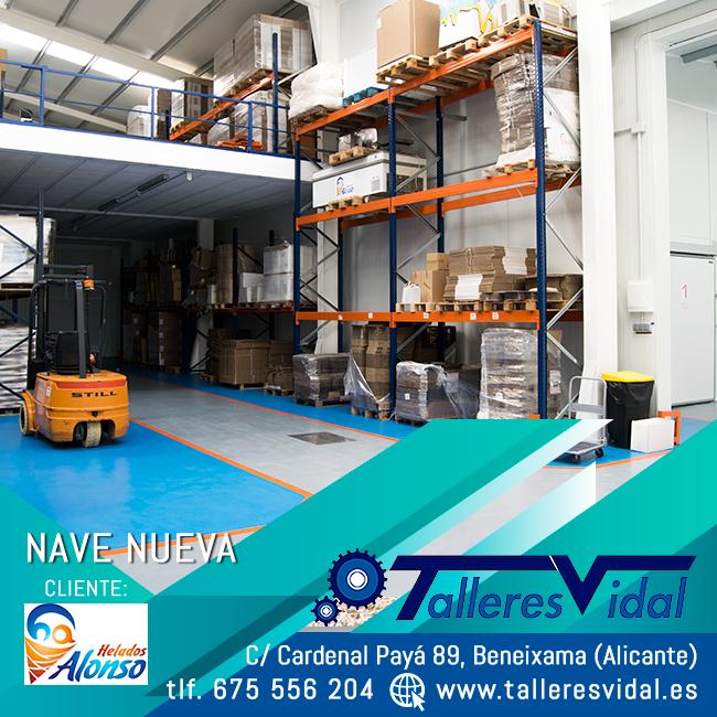 Maquinaria industrial de Talleres Vidal para Helados Alonso, Beneixama.