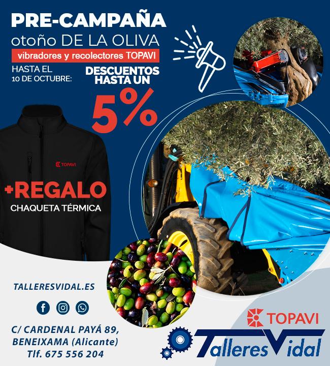 Pre-campaña Oliva de otoño 2019 Topavi en Talleres Vidal