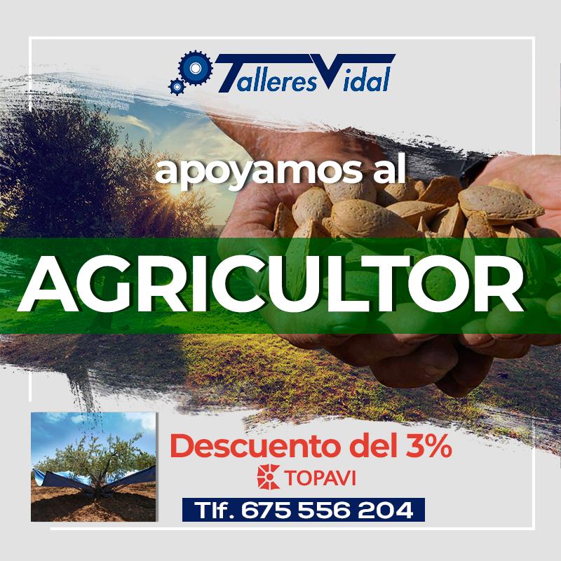 Apoyamos al agricultor: -3% en maquinaria Topavi